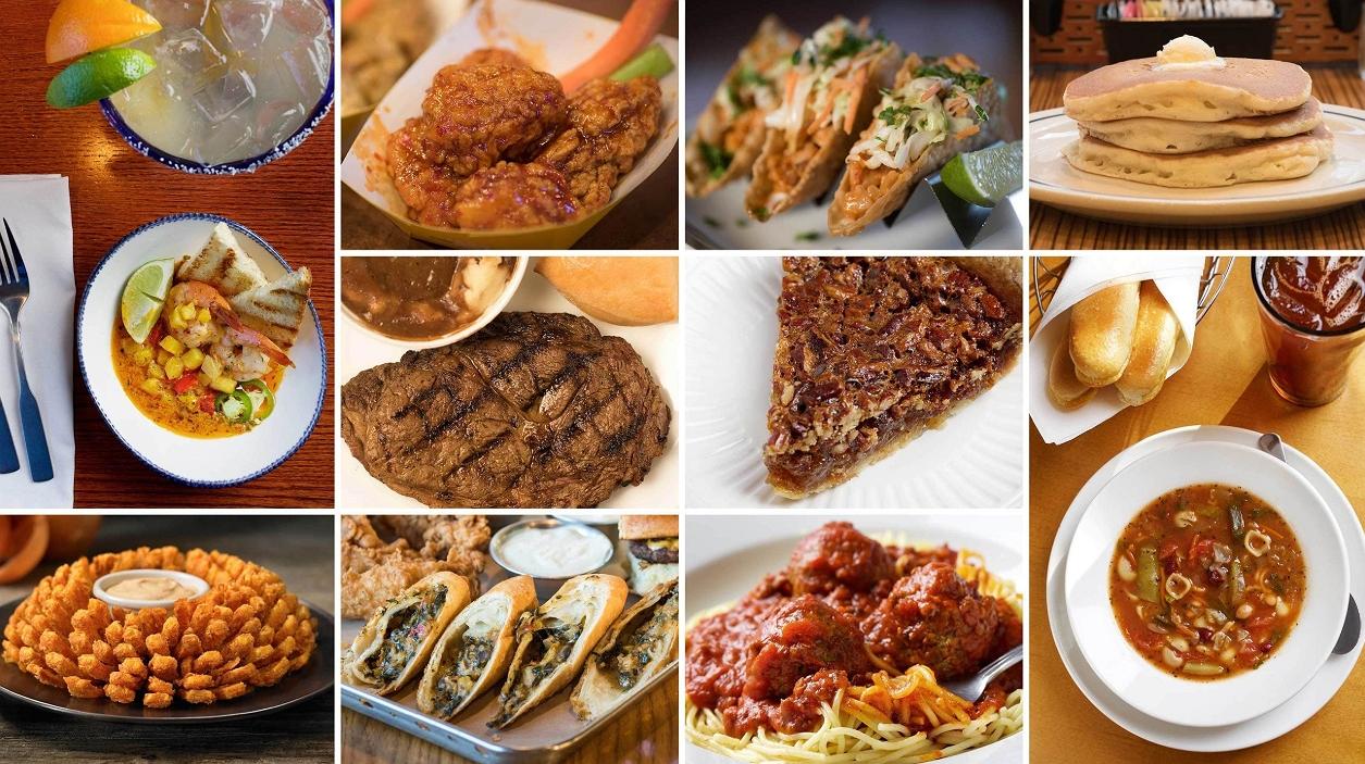 The food items in crackerbarrel restaurant
