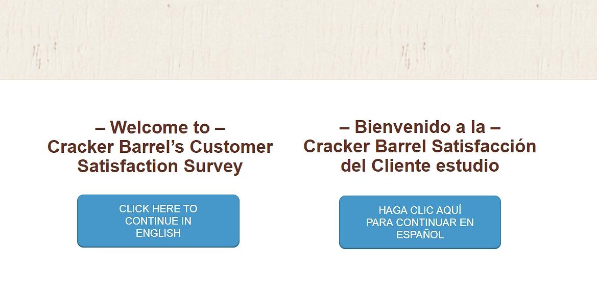 homepage of crackerbarrel-survey.com